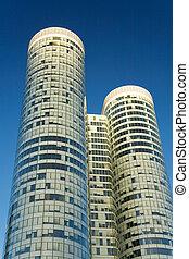 超高層ビル, 上に, ∥, 青い空