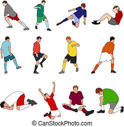 足球運動員, 運動, -, 01, 人們