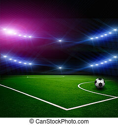 足球, 在上, the, 体育场