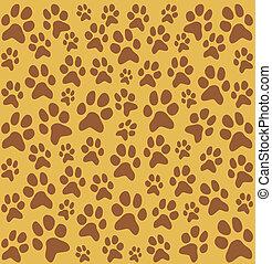 足跡, パターン, 犬, ねこ