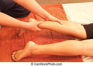 足, 伝統的である, タイ人, reflexology, マッサージ, thailand.