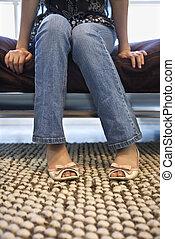 足, 女性, feet.