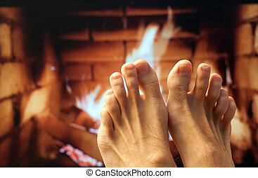 足, 暖炉, 加熱された