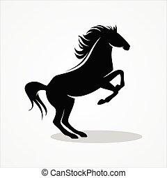 足, 馬, elemen, 地位, アイコン, 2, デザイン
