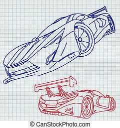 跑車, 略述, 藍圖
