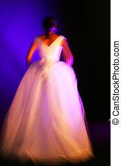 跑道, 新娘, 模型, (blurred)