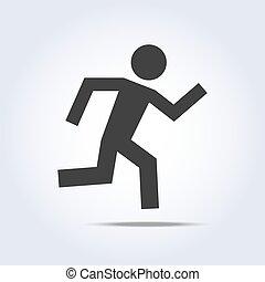 跑, 人類, 圖象