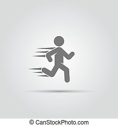 跑, 人, 被隔离, 矢量, 圖象