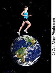 跑, 全球
