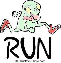跑, 圖象