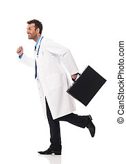 跑, 患者, 紧急, 医生