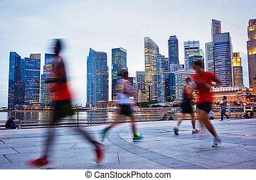 跑, 新加坡