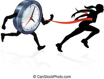 跑, 概念, 在外的時間