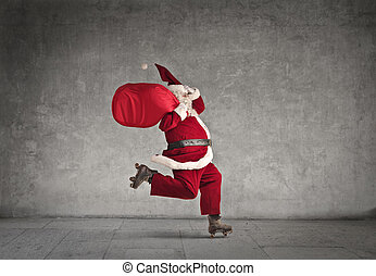 跑, 聖誕老人