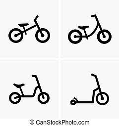 跑, 自行車