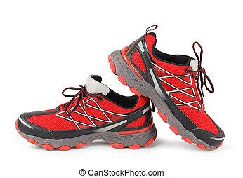 跑, 運動鞋, 紅色