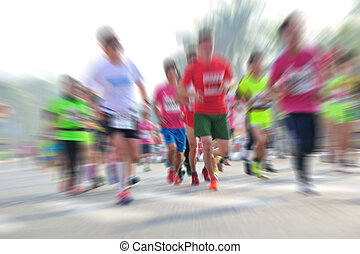 跑, 馬拉松, 比賽