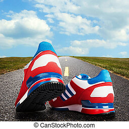 跑, shoes.