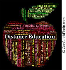 距離, 教育, 詞, 顯示, 書信, 路線, 以及, 發展