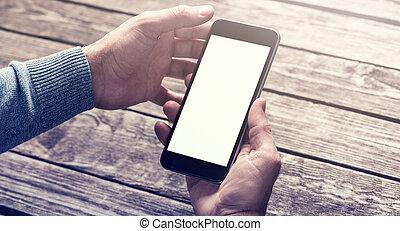 路徑, 剪,  smartphone, 手,  included