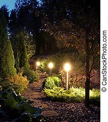 路徑, 照明, 院子, 花園