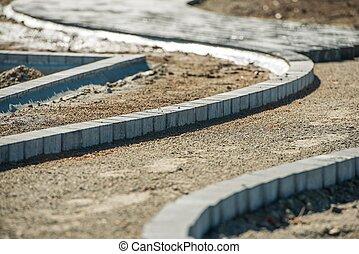 路徑, 磚, 工作, 鋪