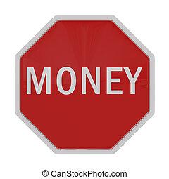 路標, 由于, 詞, 錢, 被隔离, 在懷特上