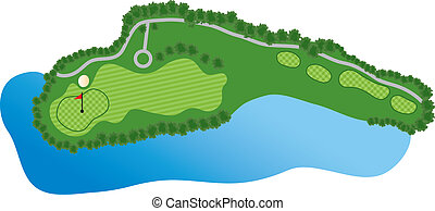 路線, 洞, 高爾夫球