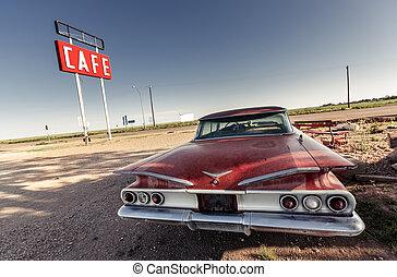 路線, 簽署, 具有歷史意義, 66, 向前, 咖啡館