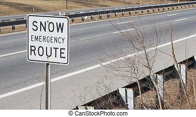 路線, 雪