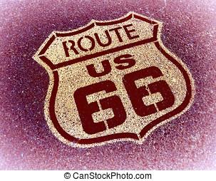 路线, 标志。, 66