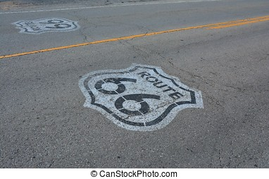路线66, 在中, 得克萨斯, usa.