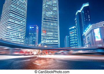 路, 以及, 城市, 背景