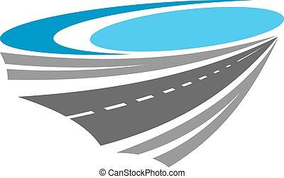 路, 或者, 高速公路, 顏色, 圖象