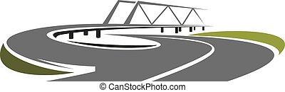 路, 橋梁, 上面, 速度, 高速公路