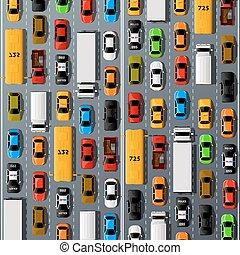 路, 汽車, 運輸, 交通堵塞, 背景。
