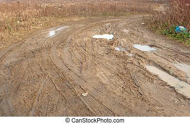 路, 泥土