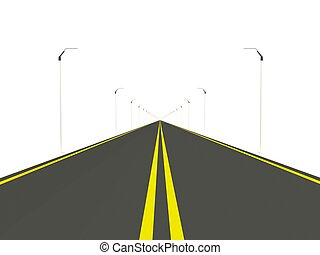 路, 被隔离, 在懷特上, 背景