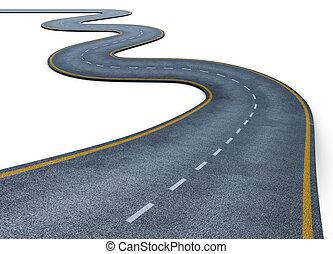 路, 被隔离, 在懷特上, 背景。, 3d, render, 圖像