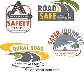 路, 高速公路 簽署, 為, 運輸, 主題, 設計
