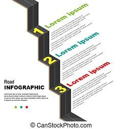 路, infographic, 背景