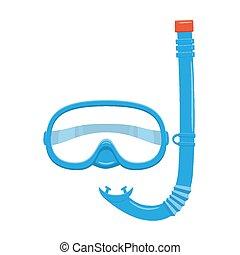 跳水, 水下通气管, 以及, 面罩