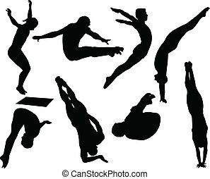 跳水, 風格, 自由