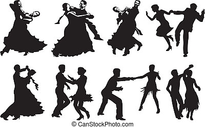 跳舞, 夫婦, 圖象, -, 跳舞