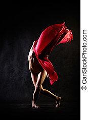 跳舞, 裸体