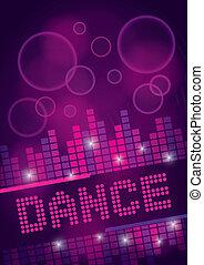 跳舞, 設計, 背景, 夜總會