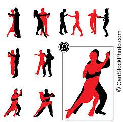 跳舞, 黑色半面畫像
