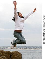 跳跃, 女孩