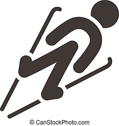 跳躍, スキー, アイコン