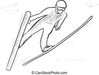 跳躍, スキー